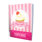 Pink A5 Scented Sketchpad with Pencil - Cupcake - Side Way