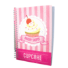 Pink A5 Scented Sketchpad with Pencil - Cupcake - Small Image