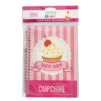 Pink A5 Scented Sketchpad with Pencil - Cupcake
