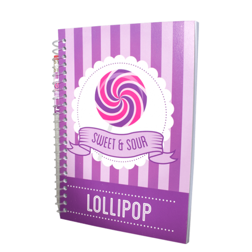 Purple A5 Scented Sketchpad with Pencil - Lollipop - Side Way