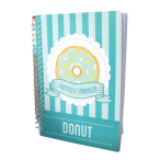 Blue A5 Scented Sketchpad with Pencil - Doughnut