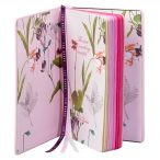 Pink A5 Brogue Notebook - Peony - Inside Pages