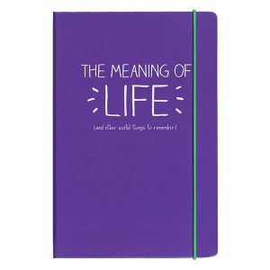 Happy Jackson A5 Notebook 'Meaning of Life' - Front Cover