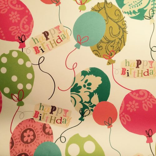 Birthday Balloons Gift Wrap