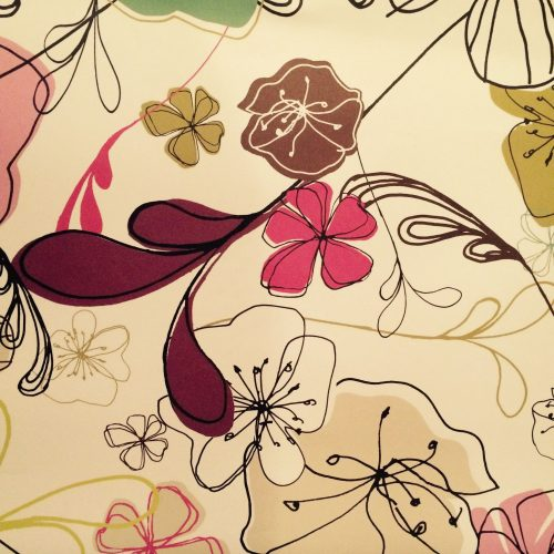 Drawn Floral Gift Wrap