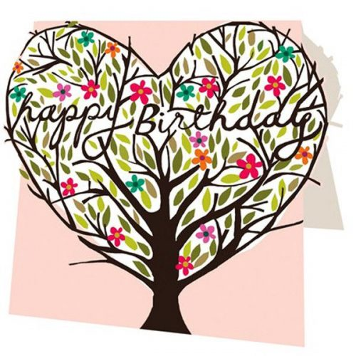 Happy Birthday Tree Birthday Card