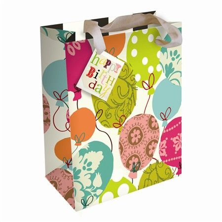 Happy Birthday Balloons - Medium Gift Bag