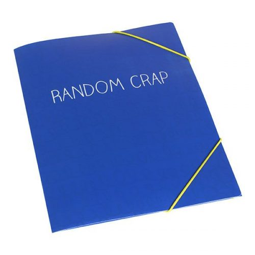 Happy Jackson Blue Document Wallet: 'Random Crap'