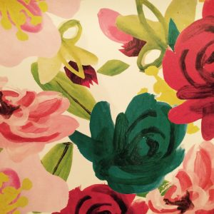 Painted Floral Gift Wrap