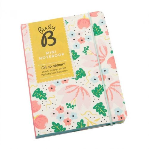 Busy B A6 Cream Floral Notebook