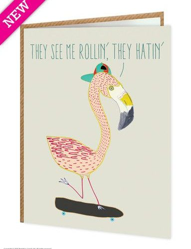 Flamin' Go Greeting Card
