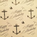 Anchor Happy Birthday Gift Wrap