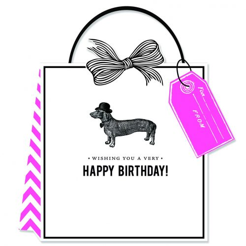 Birthday Sausage Dog Medium Gift Bag