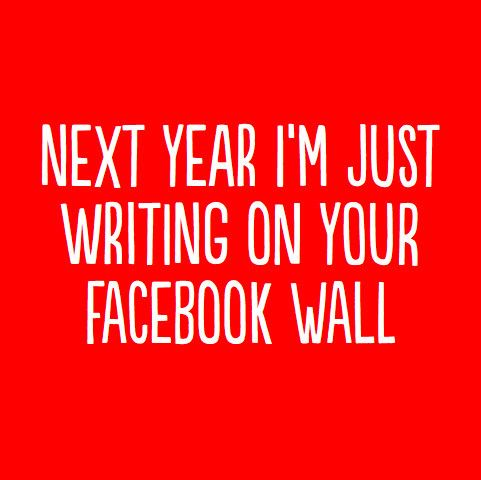 Facebook Wall Greeting Card