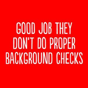 Background Checks Greeting Card