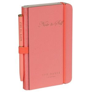 Ted Baker Mini Pink Notebook and Pen