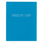 Happy Jackson Large Jotter 'Random Crap' - Front Cover