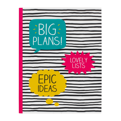 Happy Jackson Large Jotter 'Big Plans' - Front Cover