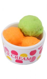 IWAKO Eraser - Ice-Cream Bowl Green & Orange
