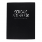 Happy Jackson Large Jotter 'Serious Notebook' - Front Cover