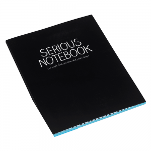 Happy Jackson Large Jotter 'Serious Notebook'