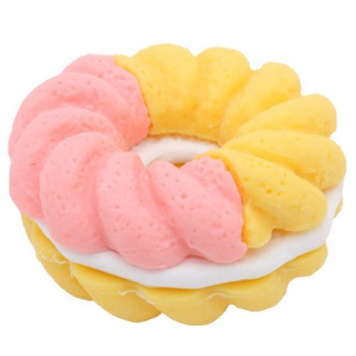 IWAKO Eraser - Doughnut - Pink and Yellow