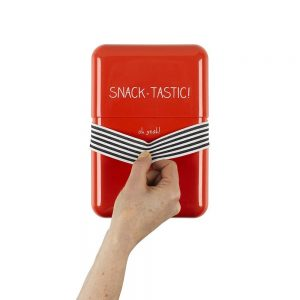 Red Happy Jackson 'Snack Tastic' Lunch Box - With Hand