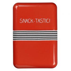 Red Happy Jackson 'Snack Tastic' Lunch Box - Front