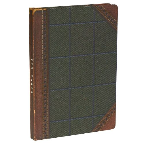 Ted Baker A5 Brogue Notebook – Tweed - Angled