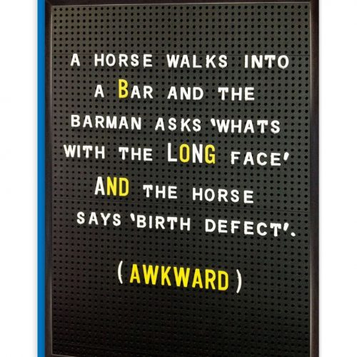 Horse Walks Into a Bar Greeting Card