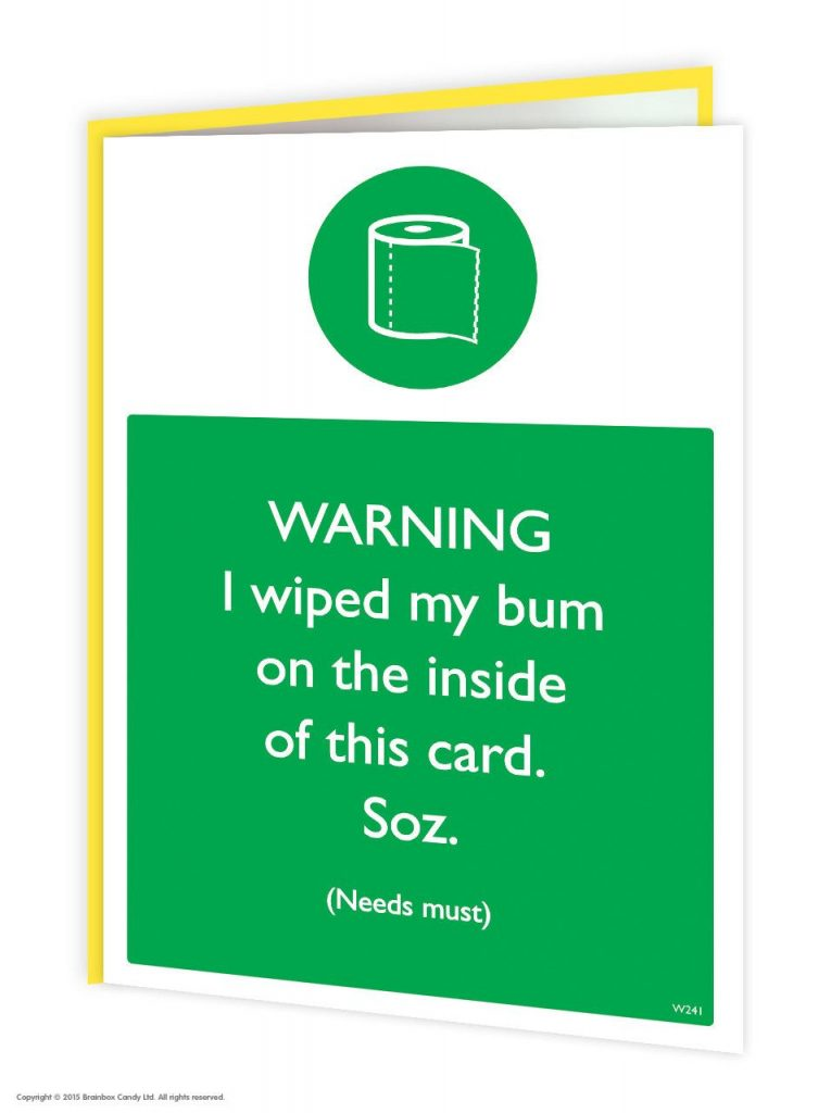 Needs Must Greeting Card