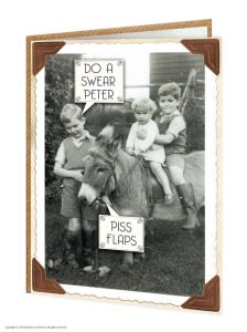 Piss Flaps Greeting Card