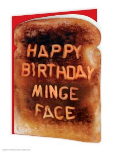 Minge Face Greeting Card