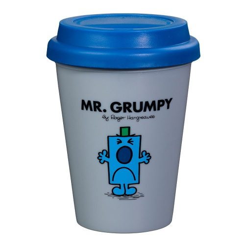 Grey and Blue Mr Grumpy Travel Mug