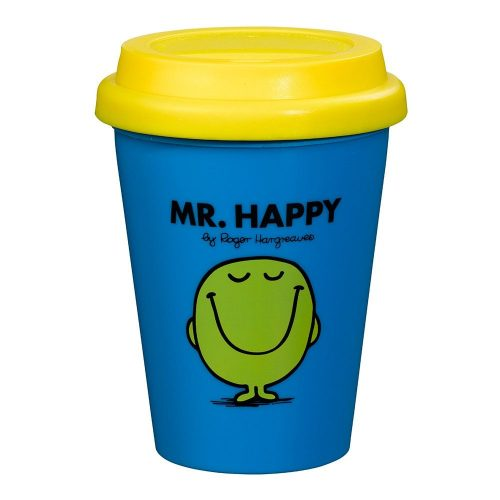 Blue and Yellow Mr Happy Travel Mug