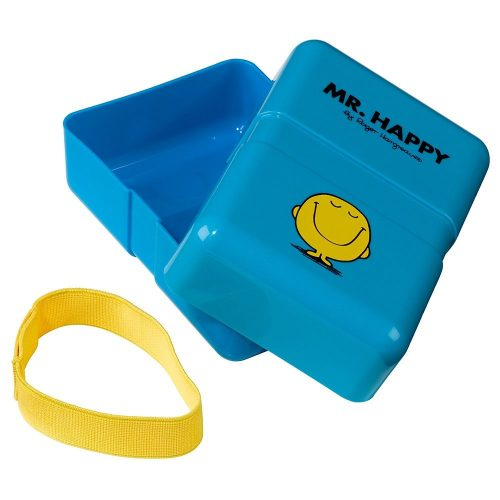 Blue Mr Happy Lunch Box - Open