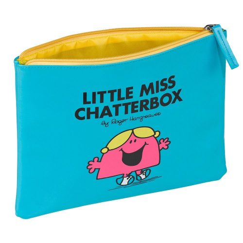 Blue Little Miss Chatterbox Pouch - Angled