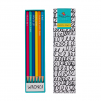 Happy Jackson Pencil Set of 6 and Eraser - Package