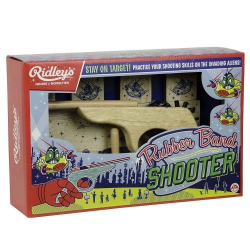 Ridley's Rubber Band Shooter With Packing - Angled